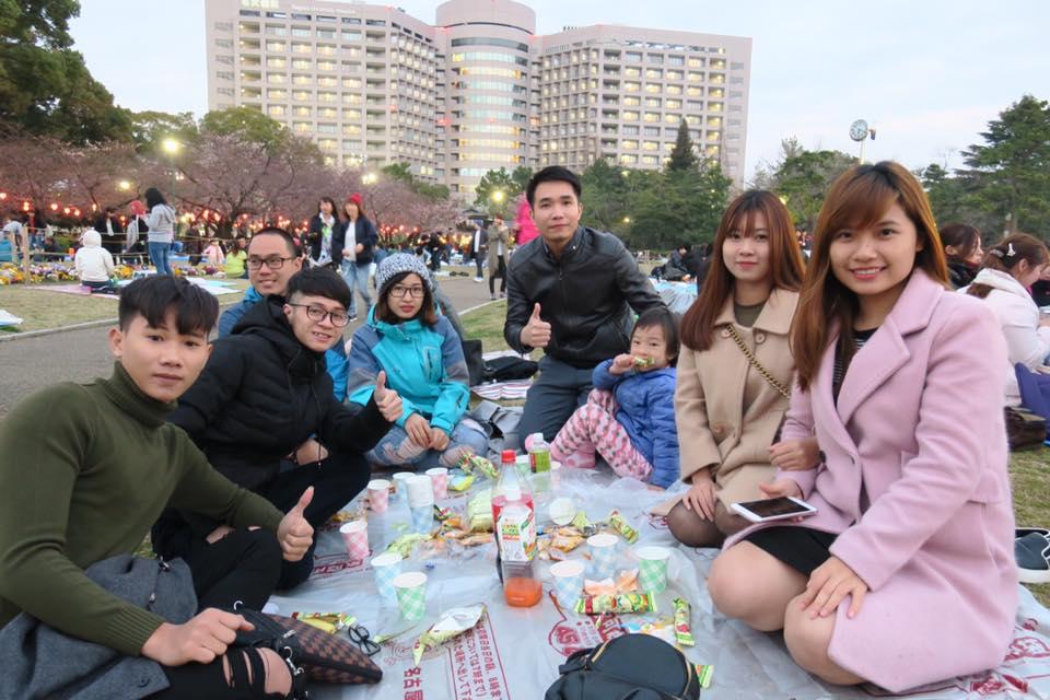 Cùng Du học sinh Yano ngắm Hoa Anh Đào tại công viên Tsurumai 01/04/2017 !