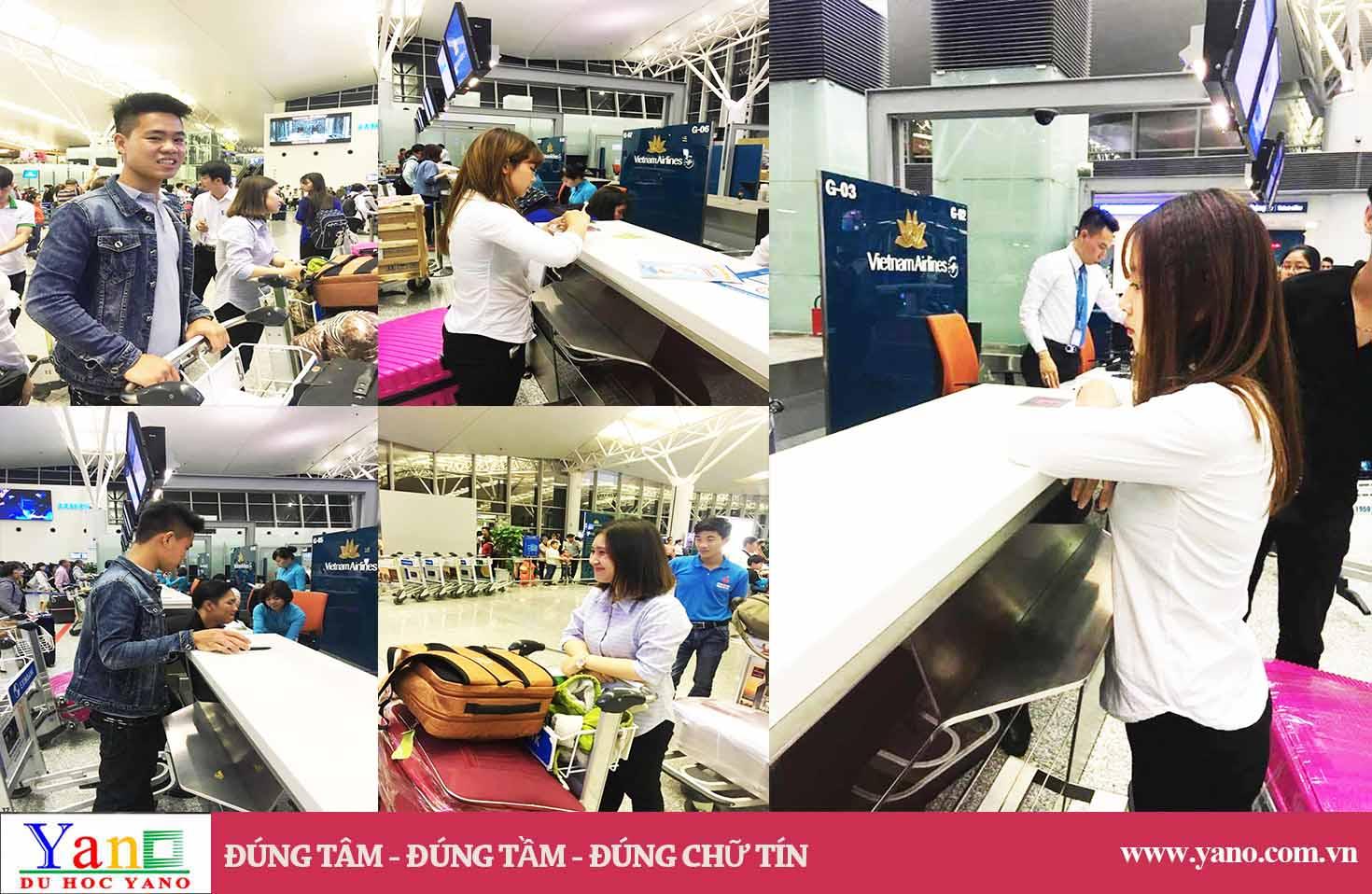 Hình ảnh đưa DHS Yano nhập học kỳ 04/2017 tại sân bay Nội Bài
