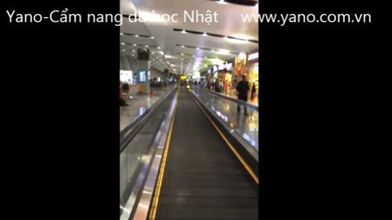 Video 03/2017 Quay trực tiếp hướng dẫn cách đi trong sân bay Nội Bài và Chubu Nagoya Japan